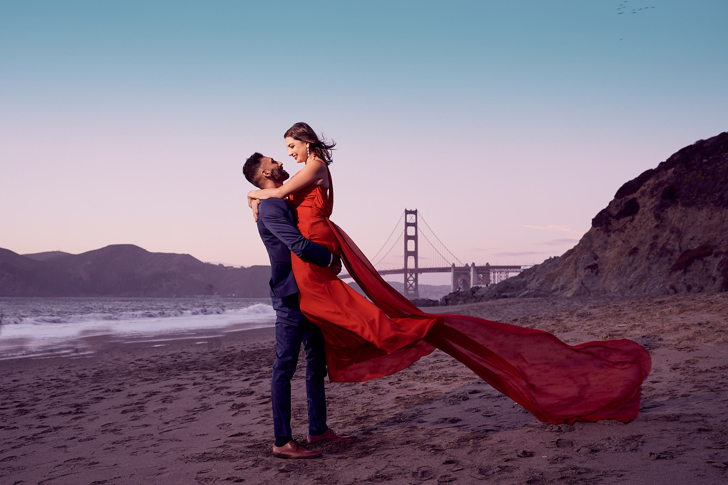 007 00.bakers Beach Ca Surprise Proposal Photography