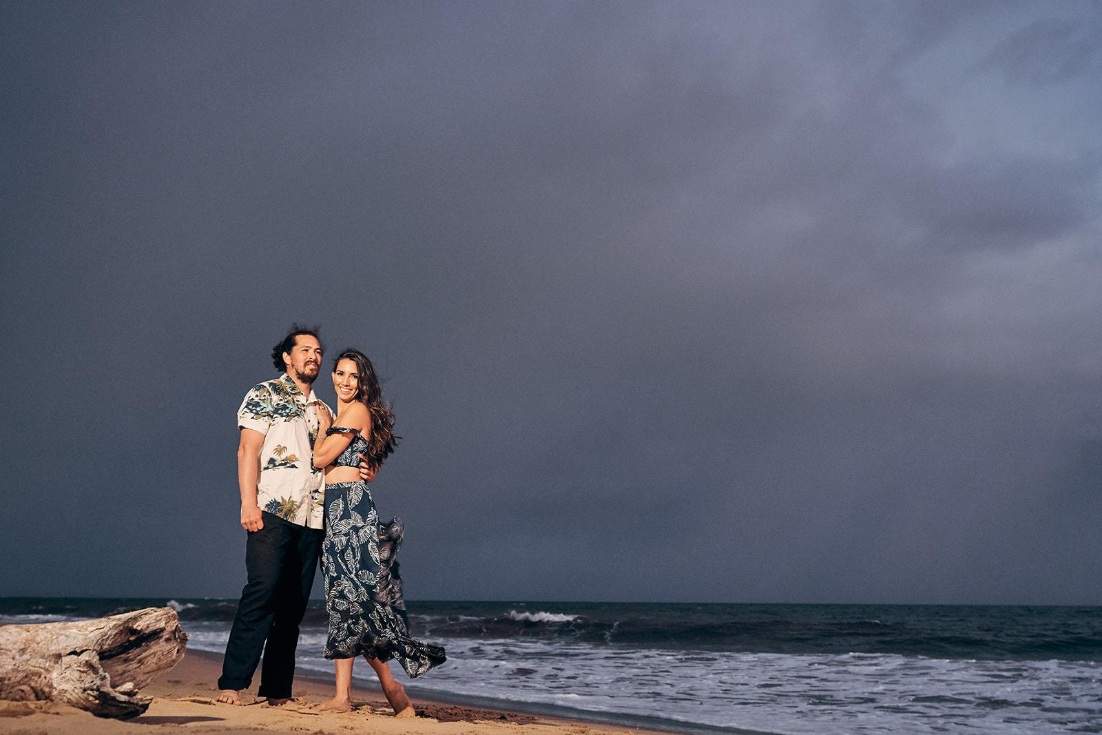 Kekaha Beach Couples Elopement Session