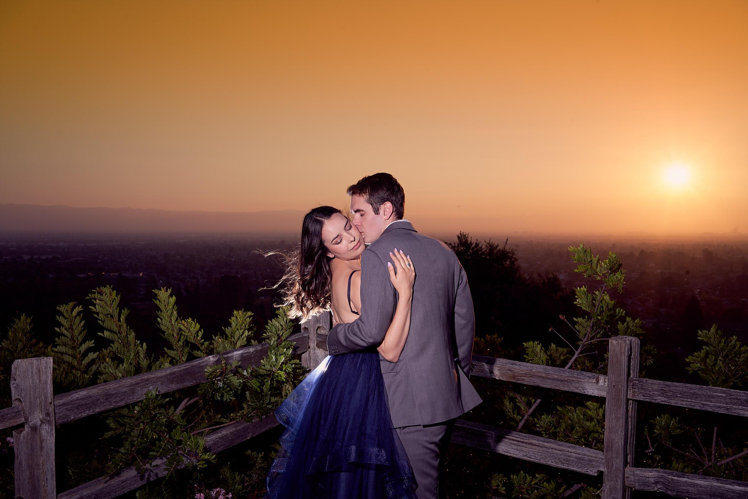 Sunset Time Couples Photoshoot Palo Alto Bay Area