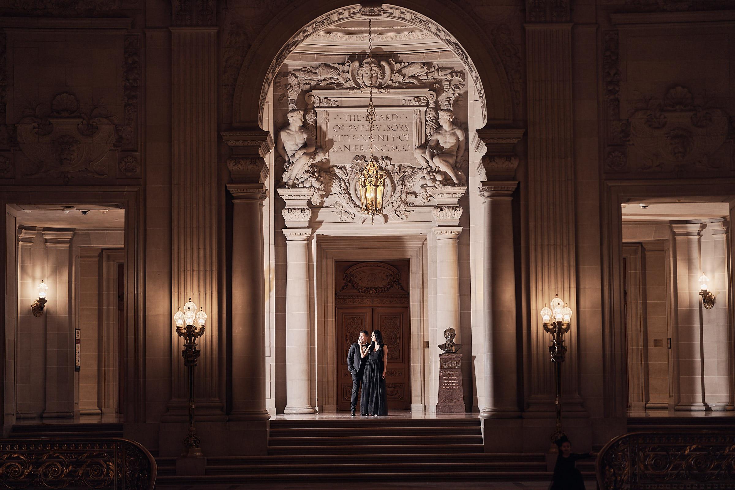 San Francisco Wedding Photographer Grand Staircase