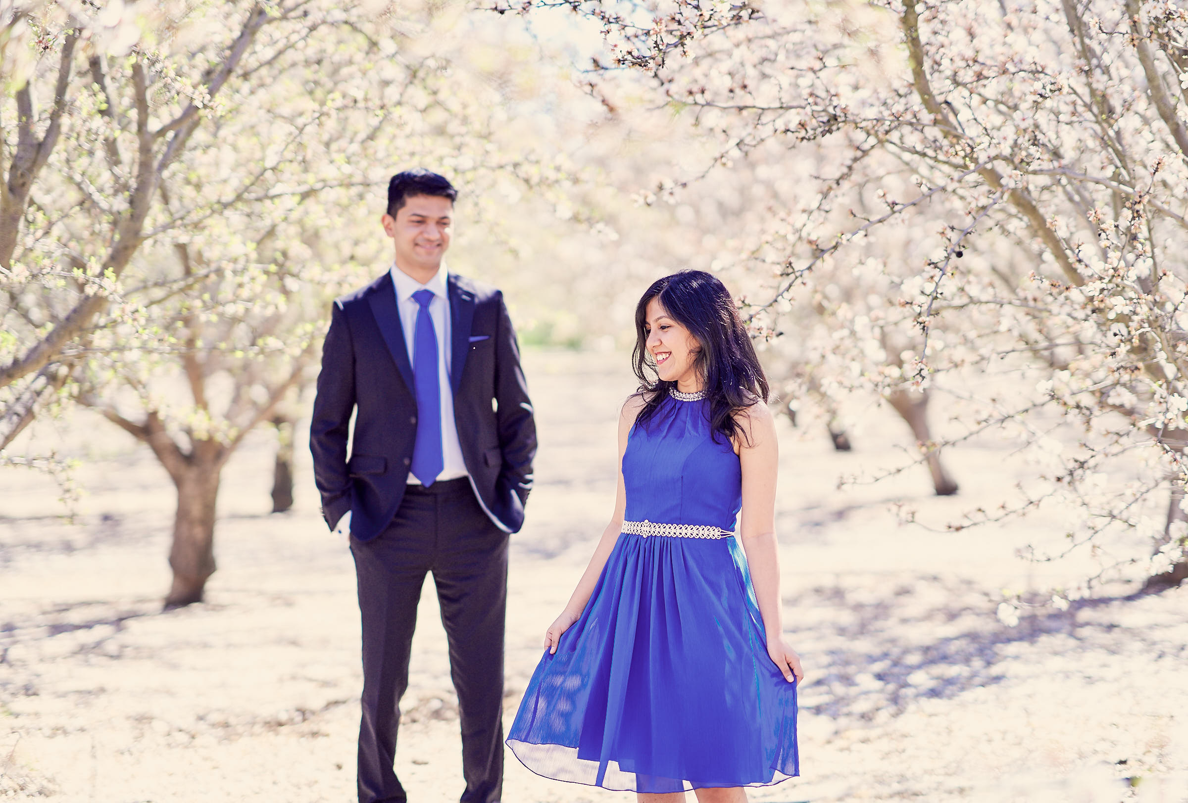 Simple Poses For Couples Almond Orchards