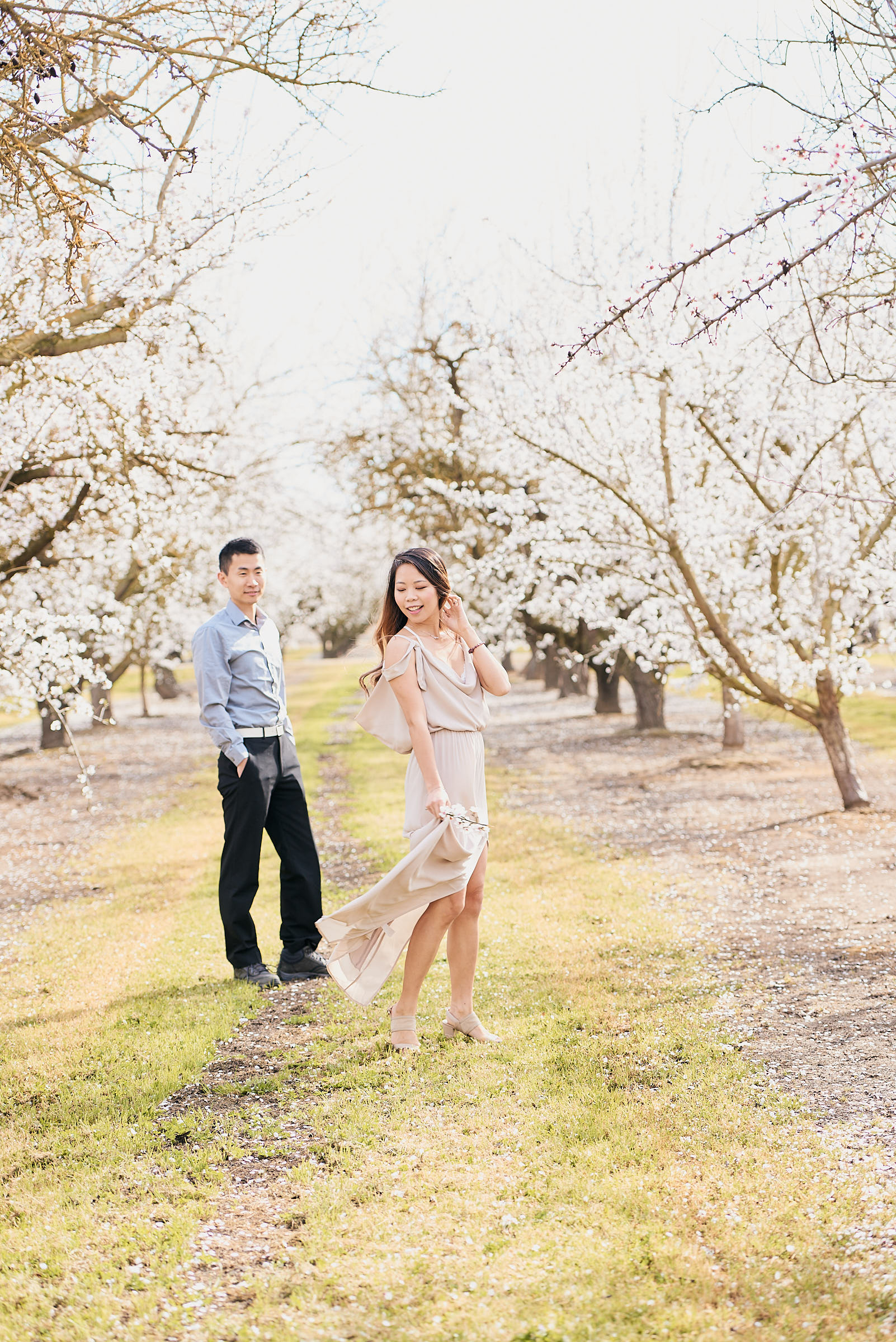 Cherry Blossom Engagement Photoshoot