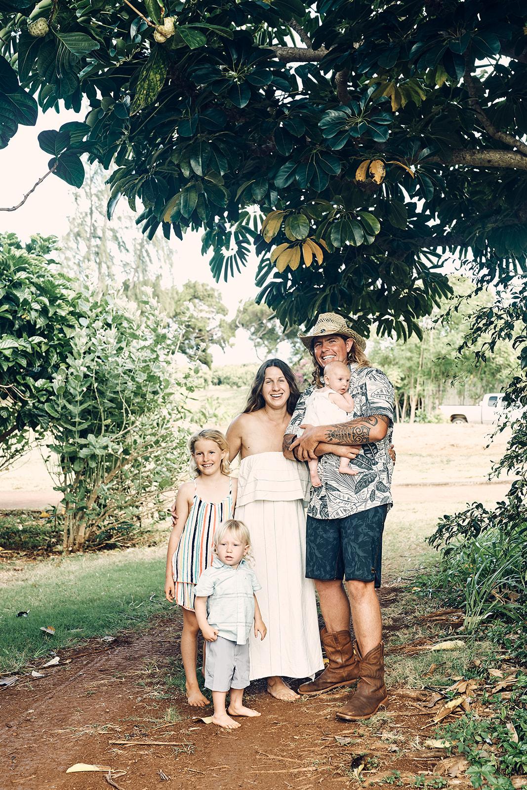 Kauai Farm Location Family Photos