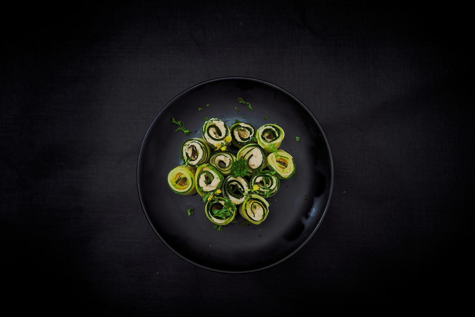Hummus Cucumber Rolls Chef Amanda Smith Kauai
