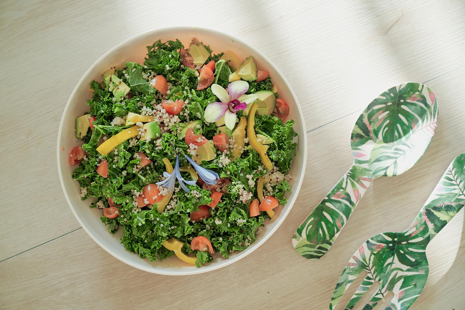Healthy Kale Avocado Salad By Chef Amanda Smith In Hawaii