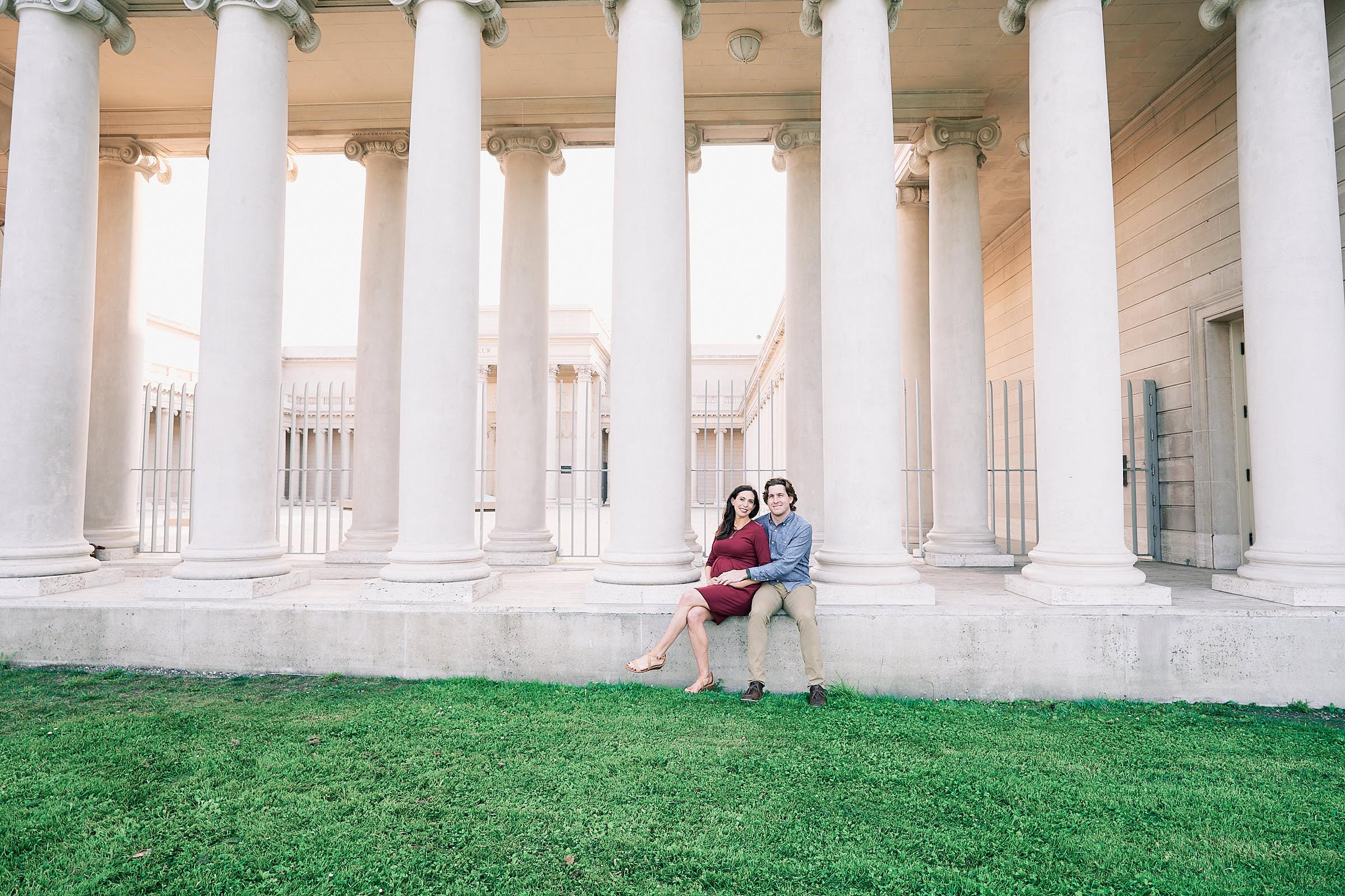 Couples Maternity Photos Outside Legion Of Honor Sf
