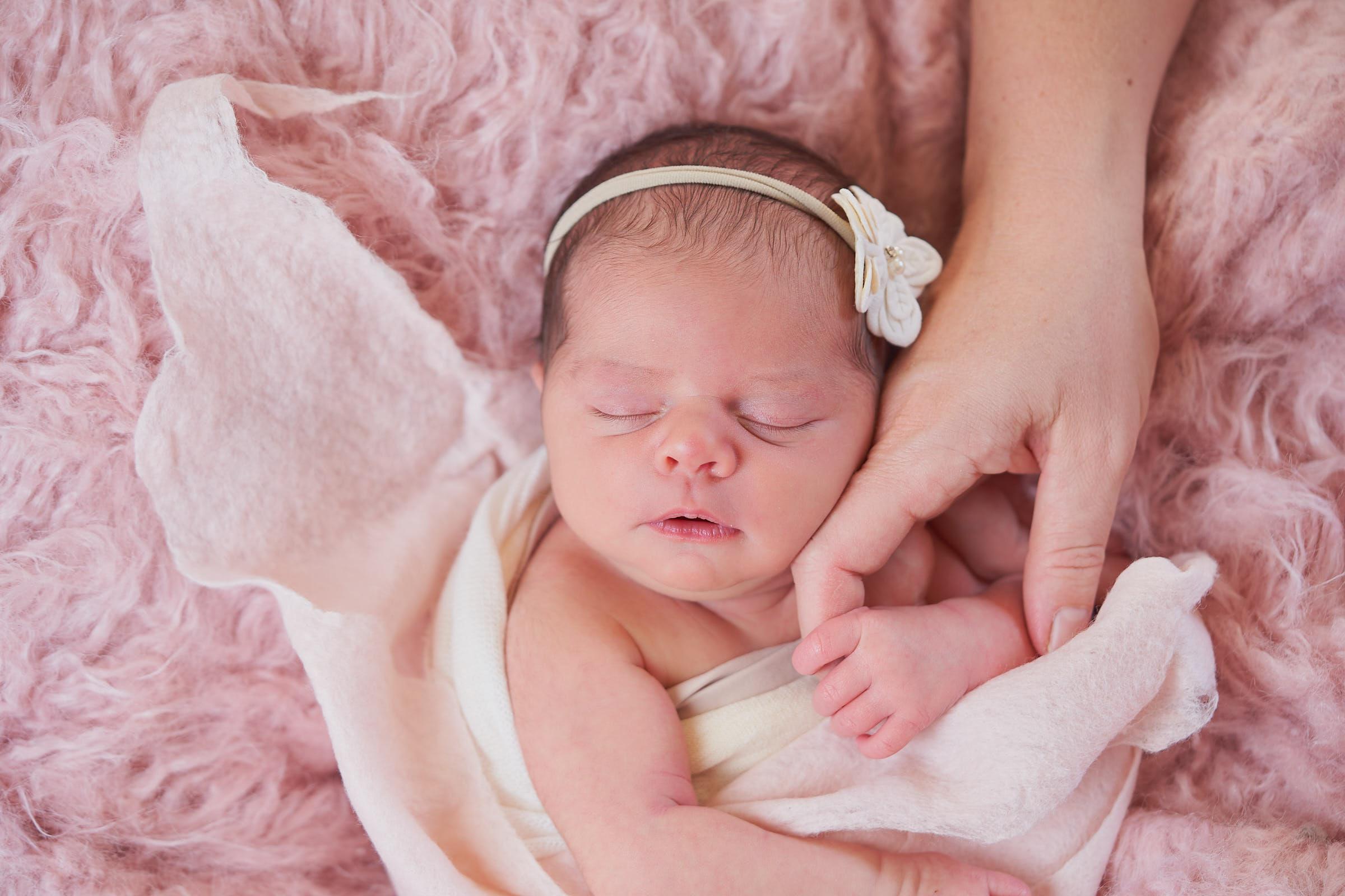 Baby Girl Newborn Photo In Home Session Kauai