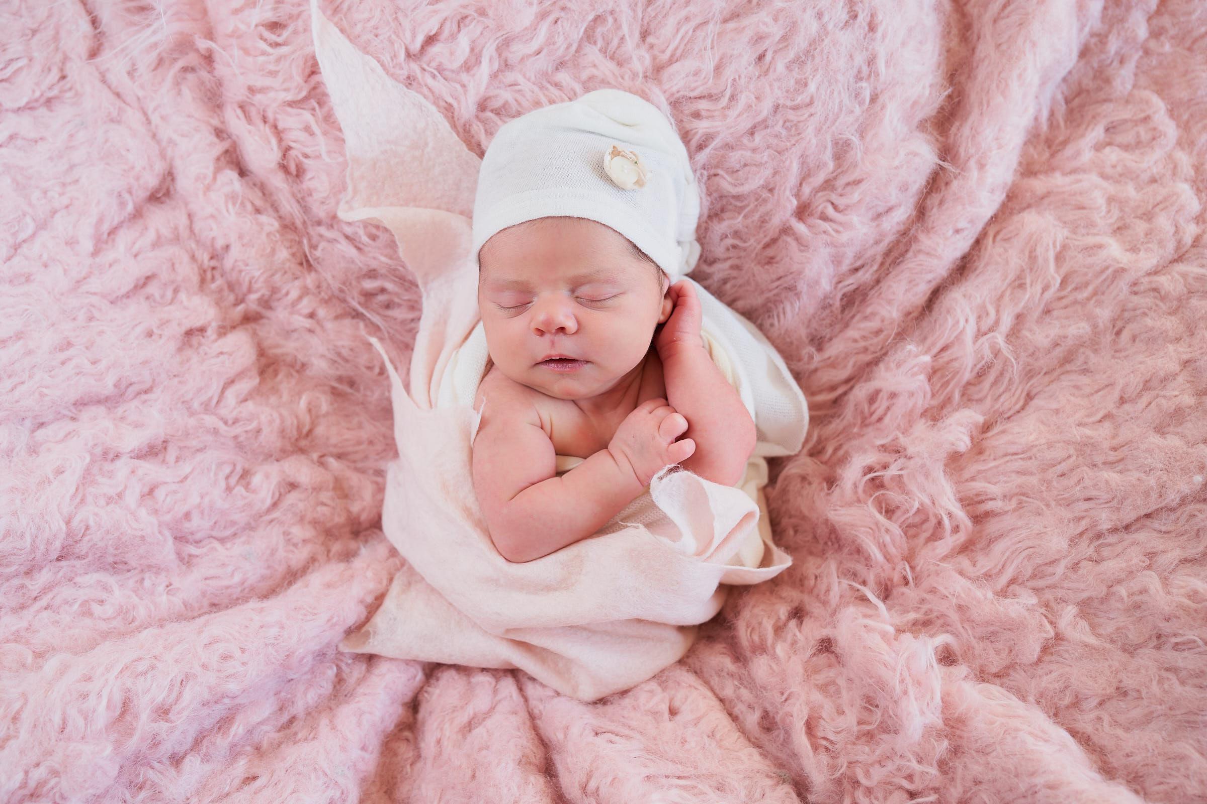 Newborn Elf Bonnet White Wrap Picture