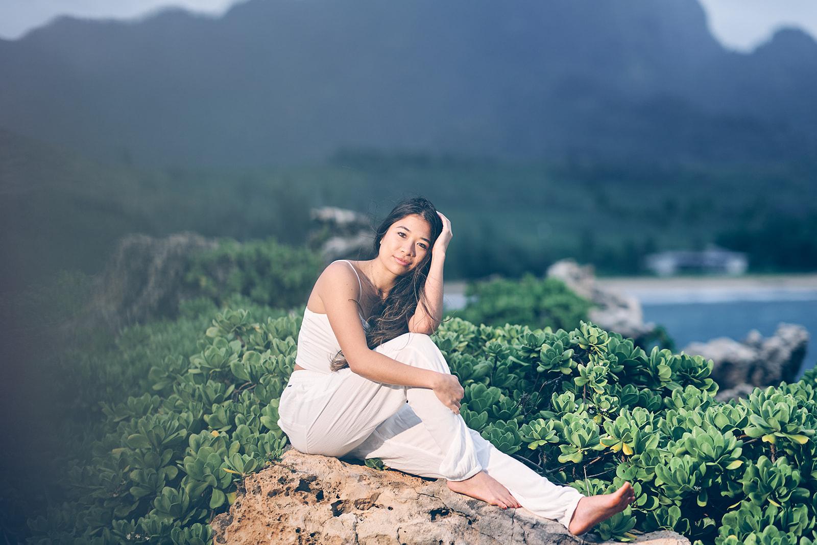 Morning Photoshoot Portraits Mahaulepu Trail Kauai