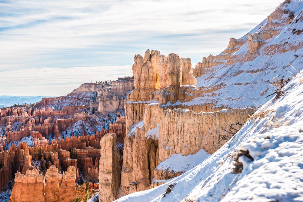 Bryce Canyon Hoodos Winter Time Photo