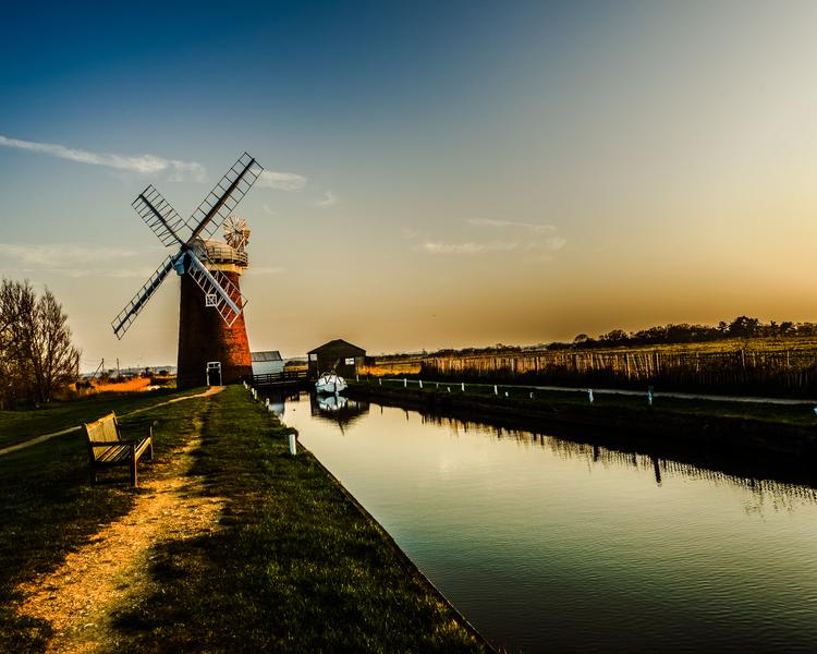 Dutch Windmill Norfolk United Kingdom