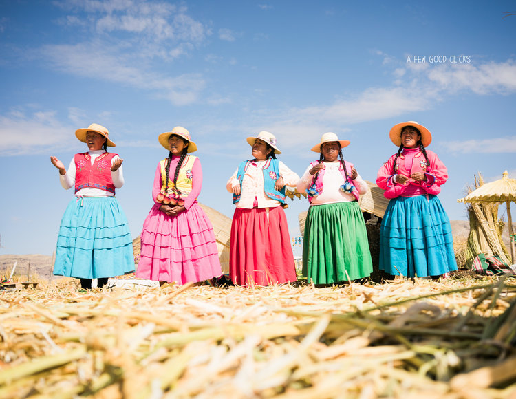 Tribe Living Uros Floating Island Lake Titicaca Peru