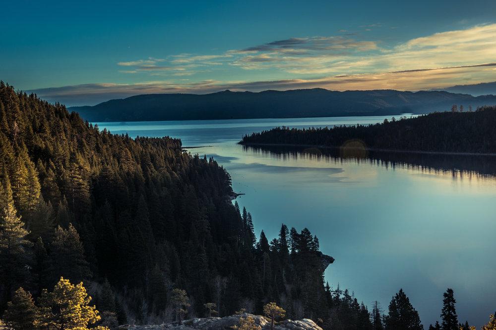 Emerald Bay Lake Tahoe Sunrise Time Summer