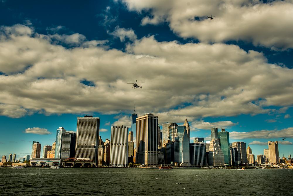Newyork City Skyline Hudson River Usa Travel