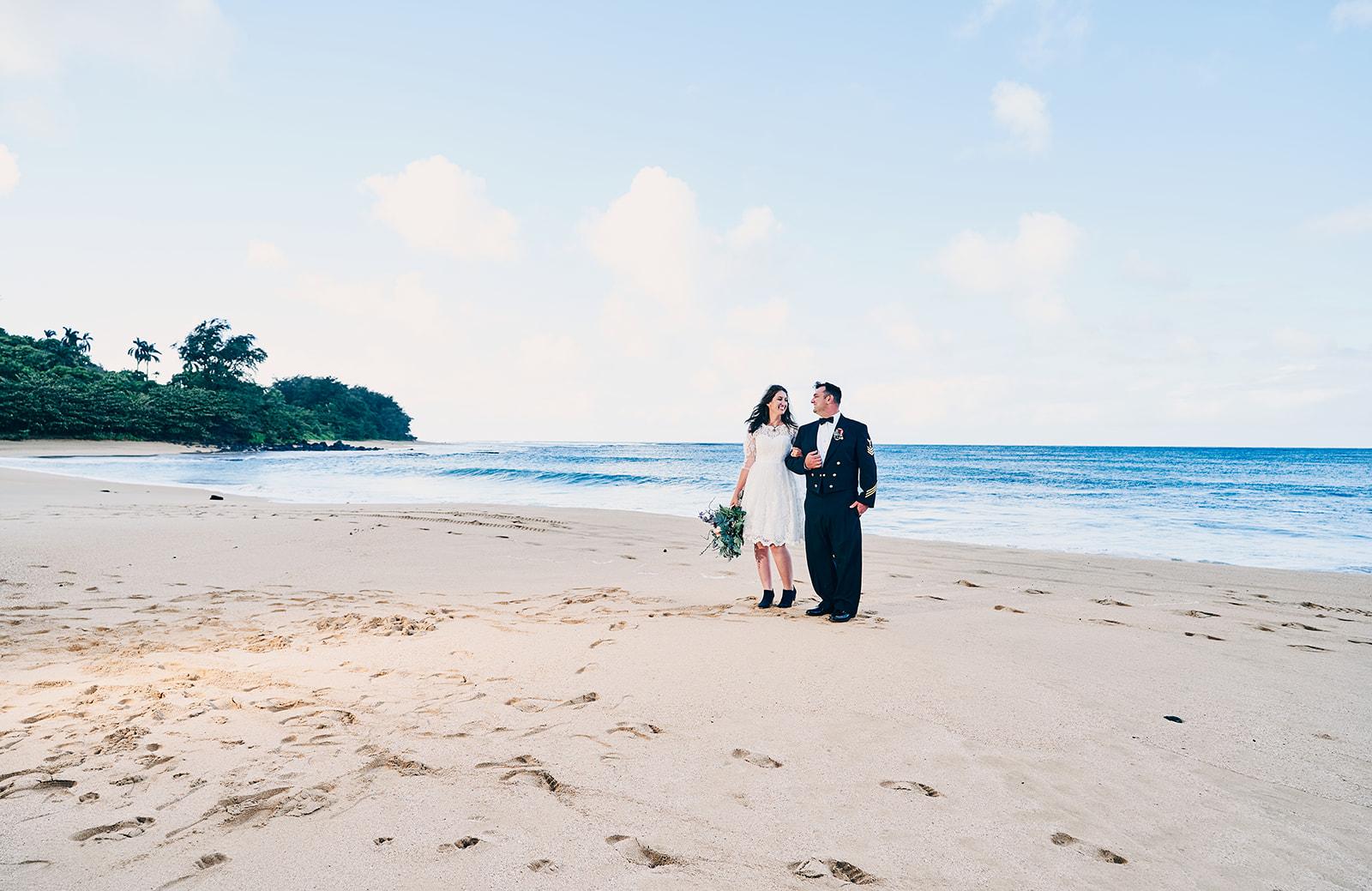 Epic Wedding Photography Beach Location Kauai South Shore